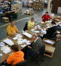 Mail fulfillment services, show bag packing, shrink wrapping