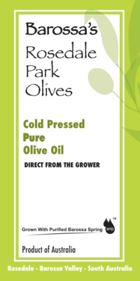 Australian grown olive oil, macadamia oil