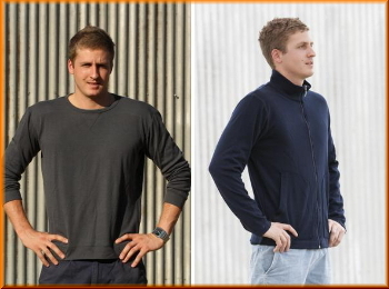Australian made mens woollen clothing