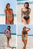one piece swimwear, bikinis, one