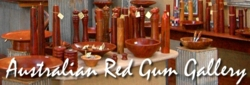 Australian made red gum products, bolws, salt grinder, pepper grinder